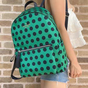NWT Kate Spade  Large Backpack Multicolor Green